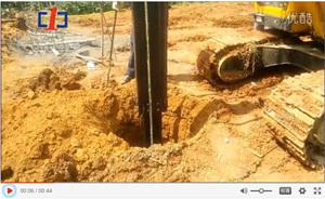 中一惠龙旋挖钻施工现场