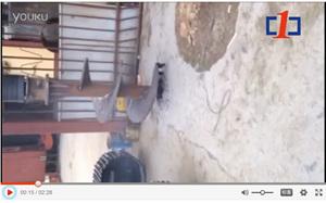 中一惠龙机锁杆旋挖钻钻混凝土地面施工视频