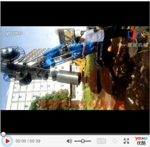 中一惠龙轮式旋挖钻机施工视频